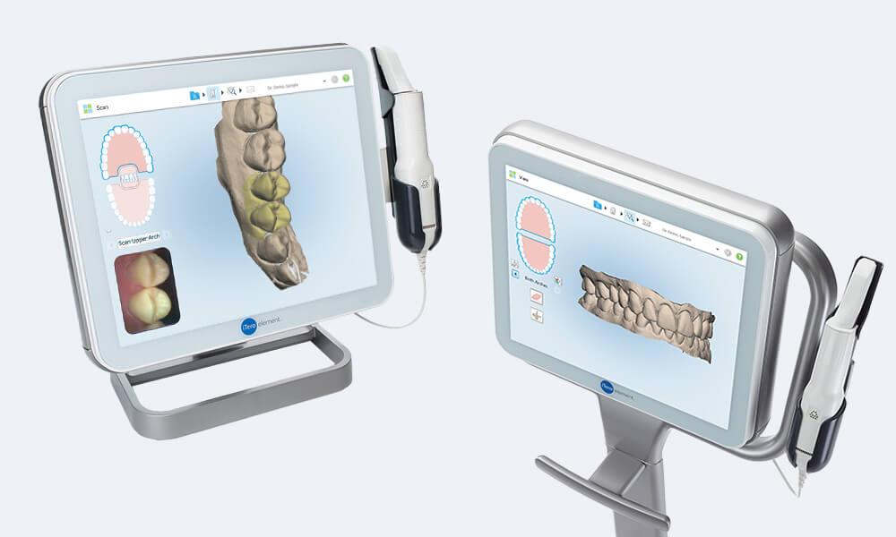 最新の機器を導入し、『簡単口腔内スキャン』『お顔のシミュレーション』まで